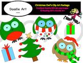 Christmas Owl's Clip Art Pack