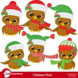 Christmas Owls Clipart AMB-352