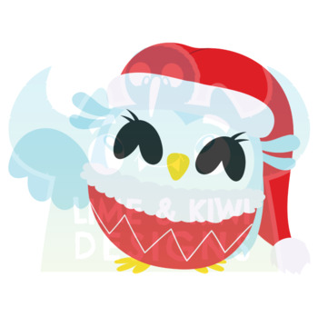Christmas Owls Clipart | Instant Download Vector Art | Commercial Use Clip Art