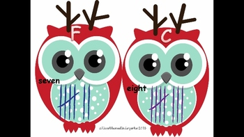 Christmas Owls Count and Write the Room: Common Core Aligned
