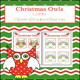 Open Ended Reinforcement Board Game:Christmas Owls Lotto Game