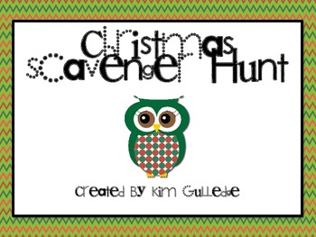 Christmas Owls Math Scavenger Hunt
