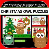 Christmas Owls Number Puzzles - 20 Christmas Number Puzzles 1-10 + Times Tables