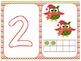 Christmas Owls Theme Play Dough Mats with Christmas Chevron Frames
