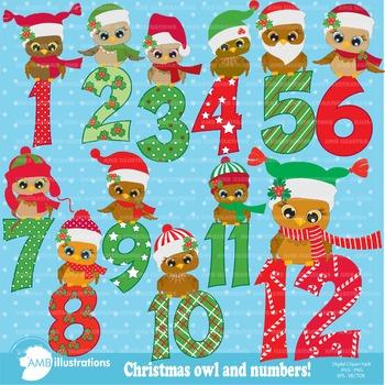 Christmas Owls and Numbers AMB-361