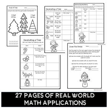 Pbl Christmas Math Decimals Interpret The Remainder Activity Tpt