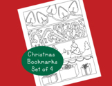 Christmas Printable Bookmarks PDF Holiday Tree Presents Candy Canes Activity