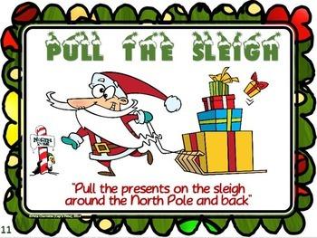 "Christmas Movement Stations- 21 ""Joyous"" Activity Cards"