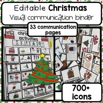 Christmas visual communication binder. 700+ visual icons. Editable