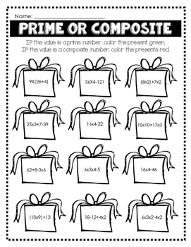 Christmas PEMDAS Presents - 5th Grade Order of Operations Practice