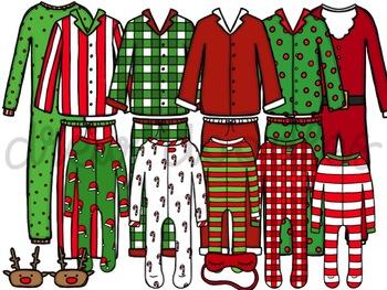 Christmas Pj.Christmas Pj S Digital Clip Art Set