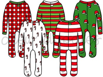 Christmas PJ's Digital Clip Art Set