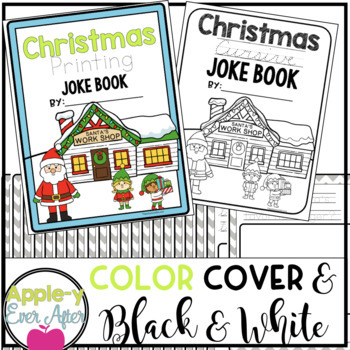 Christmas PRINTING AND CURSIVE Practice Joke Books