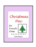 Christmas * Pac For French Class