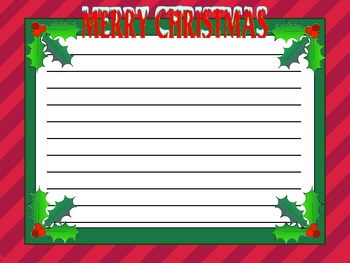 Christmas Pack - Digital Paper, Writing Frames and Original clipart