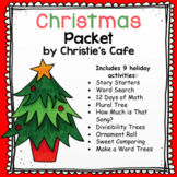Christmas Math & ELA Activity Packet