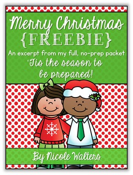 Christmas Packet - First Grade {FREEBIE}