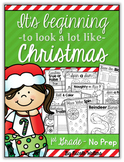 Christmas Packet - First Grade {No Prep}