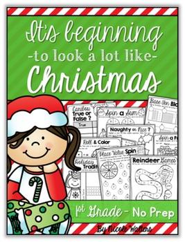Christmas Packet - First Grade {No Prep}