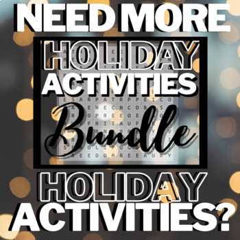 Christmas Writing Activities: Crossword Puzzle, Word Search, Writing Activities