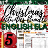 Christmas Writing Activities: Crossword Puzzle, Word Searc