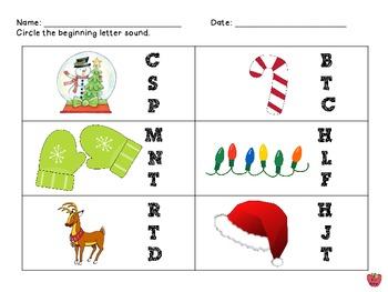 Christmas Packet for Pre-K & K