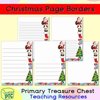 Christmas Page Borders.Christmas Page Border Writing Frames