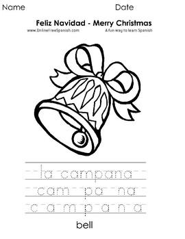 Christmas - Páginas para Colorear - Bilingual Coloring Pages