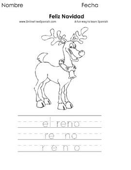 Christmas - Páginas para Colorear en Español - Spanish Coloring Pages