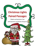 Christmas Reading Paired Passages: Poem and Nonfiction Selection