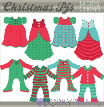 Christmas Pajamas Clip Art