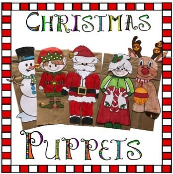 Christmas Crafts Paper Bag Puppets By Artsy Crafter Tpt