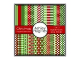 Christmas Paper Collection {12x12 Digital Papers for Commercial Use}