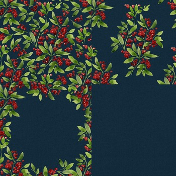 Christmas Paper, watercolor background, holiday, xmas, seamless, berries(52)