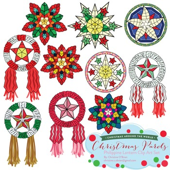 Christmas Parols - Christmas Lanterns of the Philippines Clip Art Set