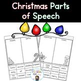Christmas Part of Speech Sorts (Nouns, Verbs, Adjectives)