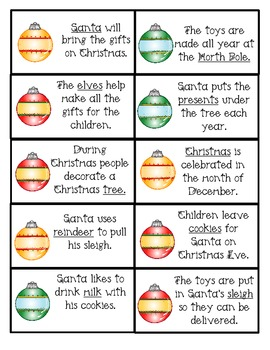 Christmas Parts of Speech