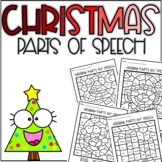 Christmas Parts of Speech Coloring