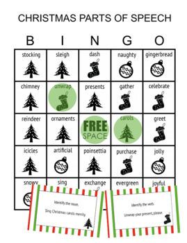 Parts of Speech Christmas Activities