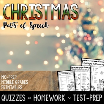Christmas Parts of Speech Activities