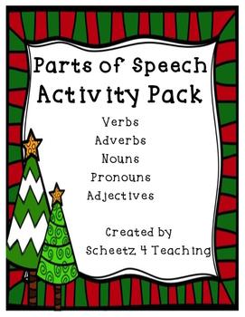 Christmas Parts of Speech - BUNDLE