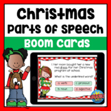 Parts of Speech Christmas Boom Cards | Distance Learning