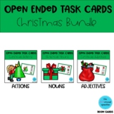 Open Ended Task Cards Christmas Bundle BOOM Card Decks Speech Language Therapy