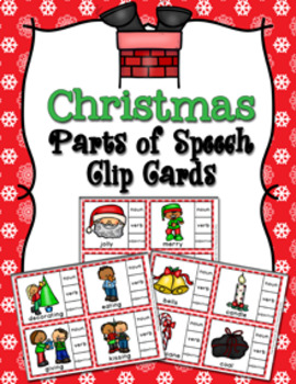 Christmas Parts of Speech Clip Cards