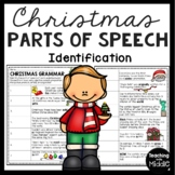 Christmas Parts of Speech Identification, December, Grammar