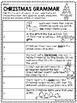 Christmas Parts of Speech Identification, December, Grammar