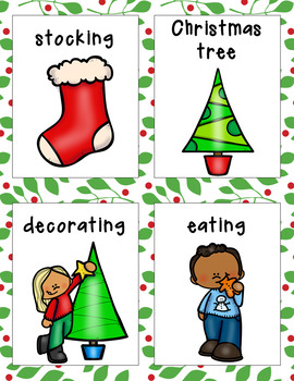 Christmas Parts of Speech Literacy Activity