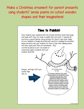 Christmas Parts of Speech Poetry Writing Activity