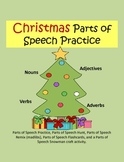 Christmas Parts of Speech Practice