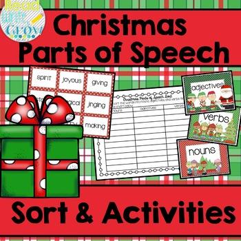 Christmas Parts of Speech Sort & Activities